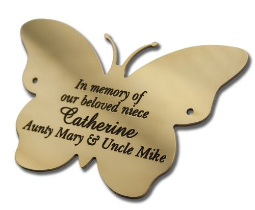 "Solid Brass Butterfly plaque 8"" high"